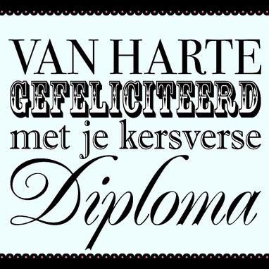 gefeliciteerd met diploma tekst